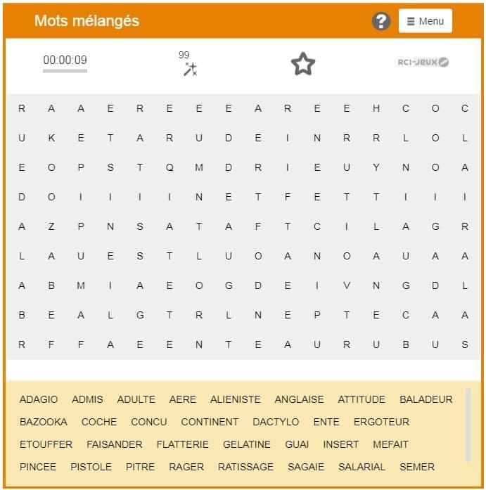 Liste des sinogrammes simplifiés